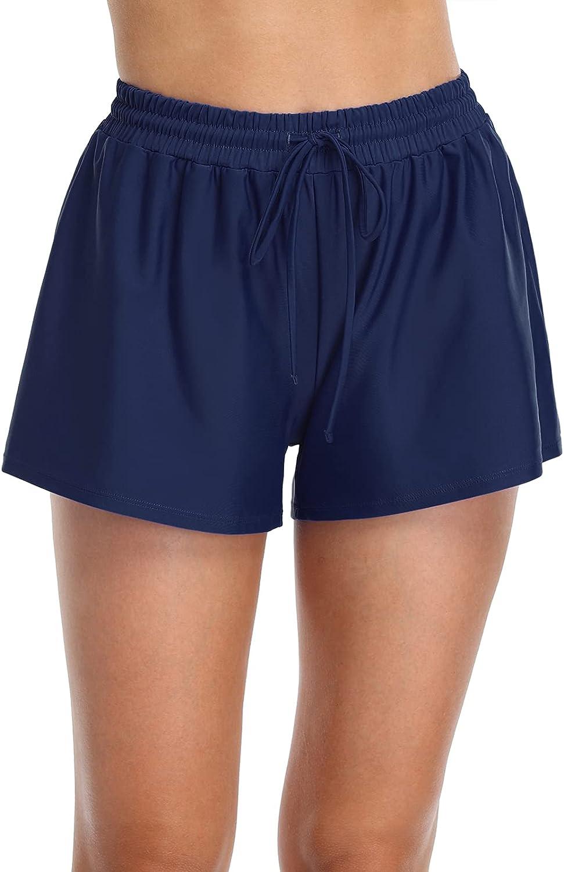 Mycoco Women's Plus Size Swim Shorts Sport Waistband Swimsuit Bottom Tankini Boy Shorts Swimming Panty