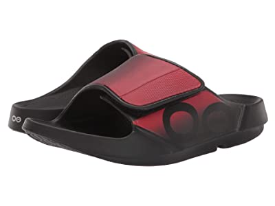 OOFOS OOahh Sport Flex (Black/Red) Running Shoes