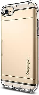 Spigen Crystal Wallet Cüzdan Serisi Kılıf iPhone 7/8 ile Uyumlu / Kapaklı Ekstra Koruma - Champagne Gold