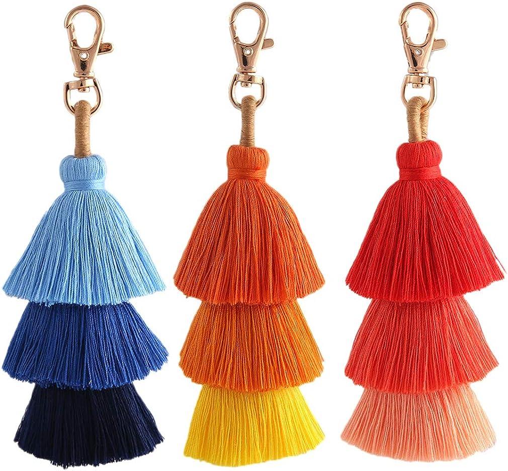 Colorful Don't miss the campaign Tassel Bag Charm KeyChain Bohemian Cu - Handmade Fringe Max 51% OFF