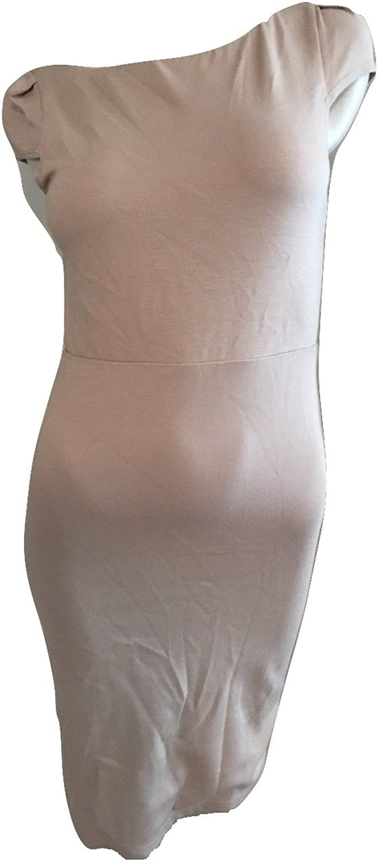 Alice & Olivia Employed Women's Cap Sleeve Stretch Sheath Dress, Nude, Size 8