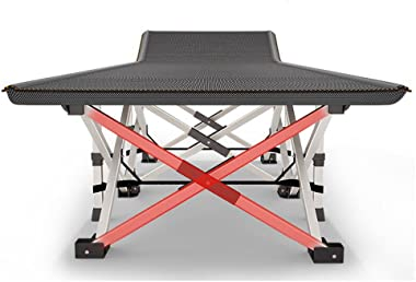 Rocking Chairs MEIDUO Camping Cots Sturdy Folding Outdoor Cot – Powered Steels 10 Support Point – Weight Capacity 300kg – Inc