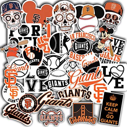 Stickers Pack San Francisco Vinyl Giants Aesthetic Stickers Set of 34 Decal 2' San Francisco Window Sticker Laptop Sticker