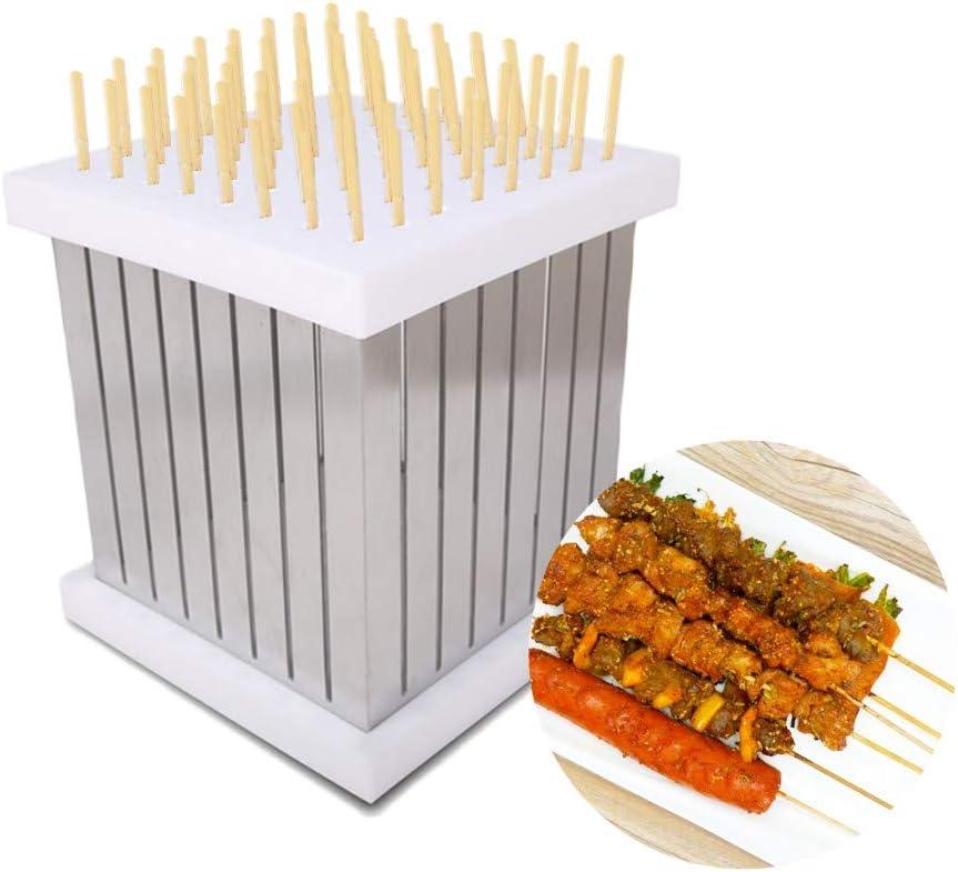 NBLYW 64 再入荷 予約販売 Hole Skewers Kebab Box Maker 新作 大人気 Portable Stainless Steel