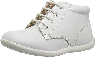 POLO RALPH LAUREN Kids Baby Kinley First Walker Shoe, White Leather, 5 Medium US Toddler