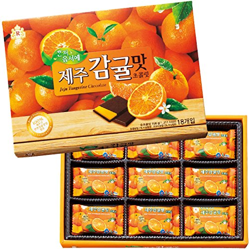 韓国 土産 済州島 みかん風味チョコレート 1箱 (海外旅行 韓国 お土産)