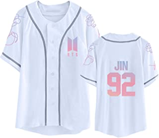 Kpop BTS Shirt Love Yourself Baseball Jersey Jimin Suga V Jung Kook T-Shirt