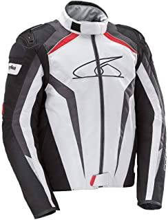 Spyke Corsa GP Giacca in pelle Sport Giacche Nero Bianco