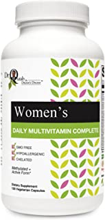Dr Qutab The Doctor's Doctor, Women's Daily Multi Vitamin Complete, Methylated & Active Formula, Hypoallergenic, Chelated,...