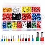 UKCOCO - Set da 2120 pezzi di boccole per cavi, assortimento di capicorda isolanti, con sc...