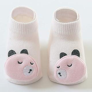ERWEF, ERWEF 5 Pares de Calcetines de niño de los niños, Piso del bebé Calcetines Antideslizantes niño Calcetines recién Nacidos (Color : B, Size : M)