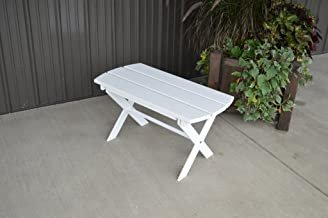 product image for Yellow Pine Outdoor Folding Coffee Table Amish Made in The USA - White Paint