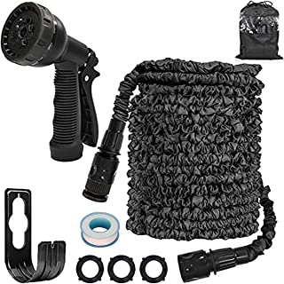 Garden Hose Pipes Expandable 150 Ft Double Quick Connect Garden Hoses with 10 Pattern Spray Nozzle Black Magic Hose Pipes ...