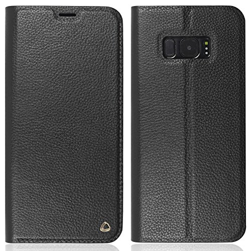 Occa Echt Leren Jas Portemonneehouder voor Galaxy S8 - Zwart