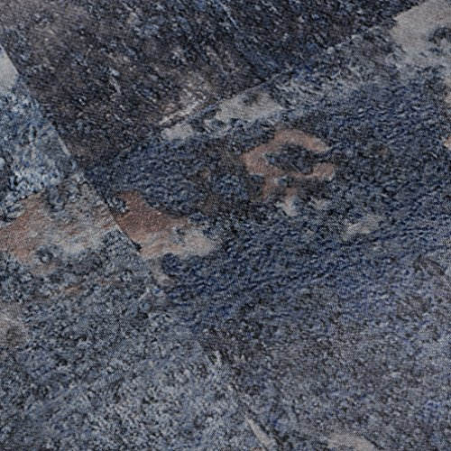 Venilia Klebefolie Industrial-Optik Rost blau Dekofolie Möbelfolie Tapeten selbstklebende Folie, PVC, ohne Phthalate, grau, 45cm x 1,5m, Stärke: 0,095 mm, 53129