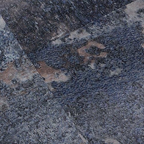 Klebefolie Industrial-Optik Rost blau Dekofolie Möbelfolie Tapeten selbstklebende Folie, PVC, ohne Phthalate, grau, 67,5cm x 1,5m, Stärke: 0,095 mm, Venilia 53140