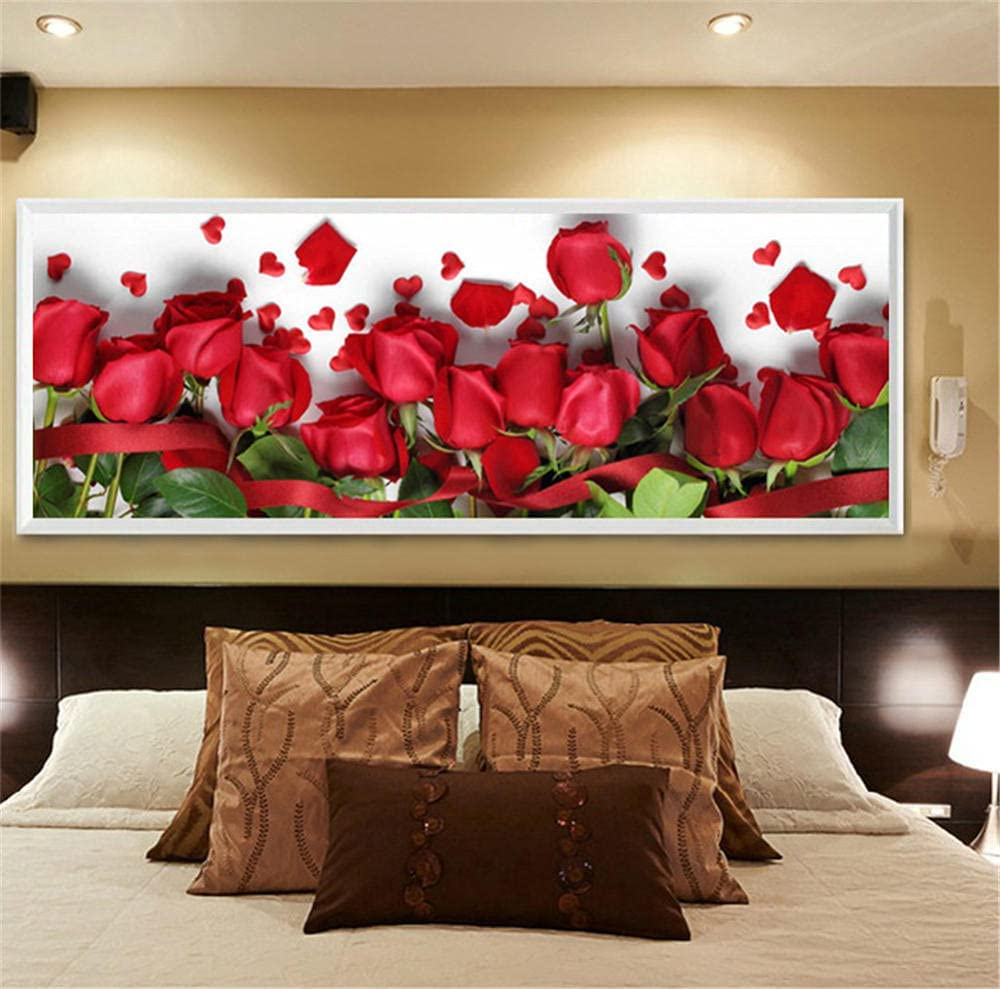 DIY trend rank 5D Diamond Virginia Beach Mall Painting by Rose Kits Embroid Number Red