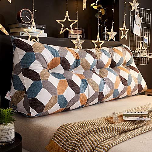 Yalixi, cuscino da comodino, in cotone, per la casa, cuscino per la schiena, rimovibile e lavabile, divano decorativo e schienale morbido e confortevole, 150 x 25 x 50 cm