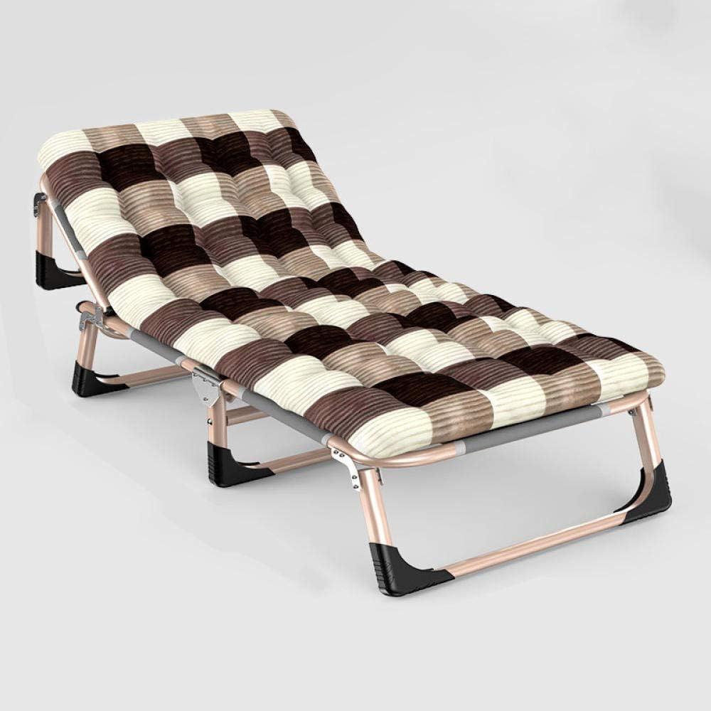 FHKBK Sillas de Patio reclinables para Personas Pesadas, Tumbona reclinable de jardín reclinable, portátil, sillón reclinable de Gravedad Cero Ajustable, Gris + Almohada + Rejilla de CAF