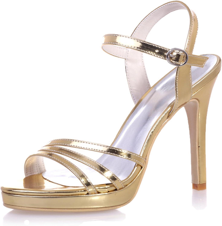 Ellenhouse Women's Bridal Wedding shoes Stiletto Heel Open Toe Pumps shoes EH058