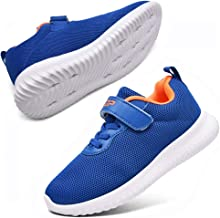 ziitop Kids Shoes Boys Girls Sneakers Lightweight Running Tennis Shoes Strap Athletic Gym Shoes Breathable Sport Shoes