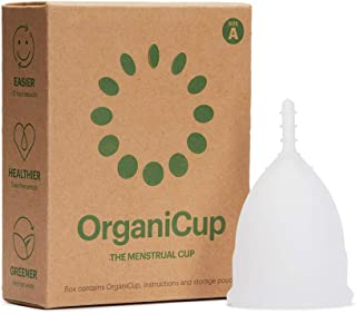 OrganiCup Menstrual Cup - Size A/Small - Winner of AllergyAwards 2019 - FDA Approved - Soft, Flexible, Reusable Medical-Grade Silicone