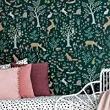 Tanglewood Forest Stencil - Wall Stencil for Nursery - Stencils Better Than Wallpaper - Woodland Nursery Decor - Cute Animal Stencils for Baby Nursery - Large Stencil for Painting Walls - DIY Decor