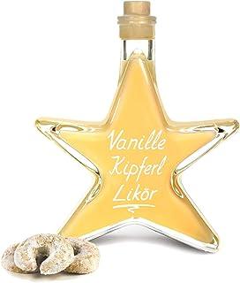 Vanille Kipferl Sahne Likör Sternflasche 0,2 L preisgekrönt & sehr lecker 17% Vol Stern Geschenk Flasche