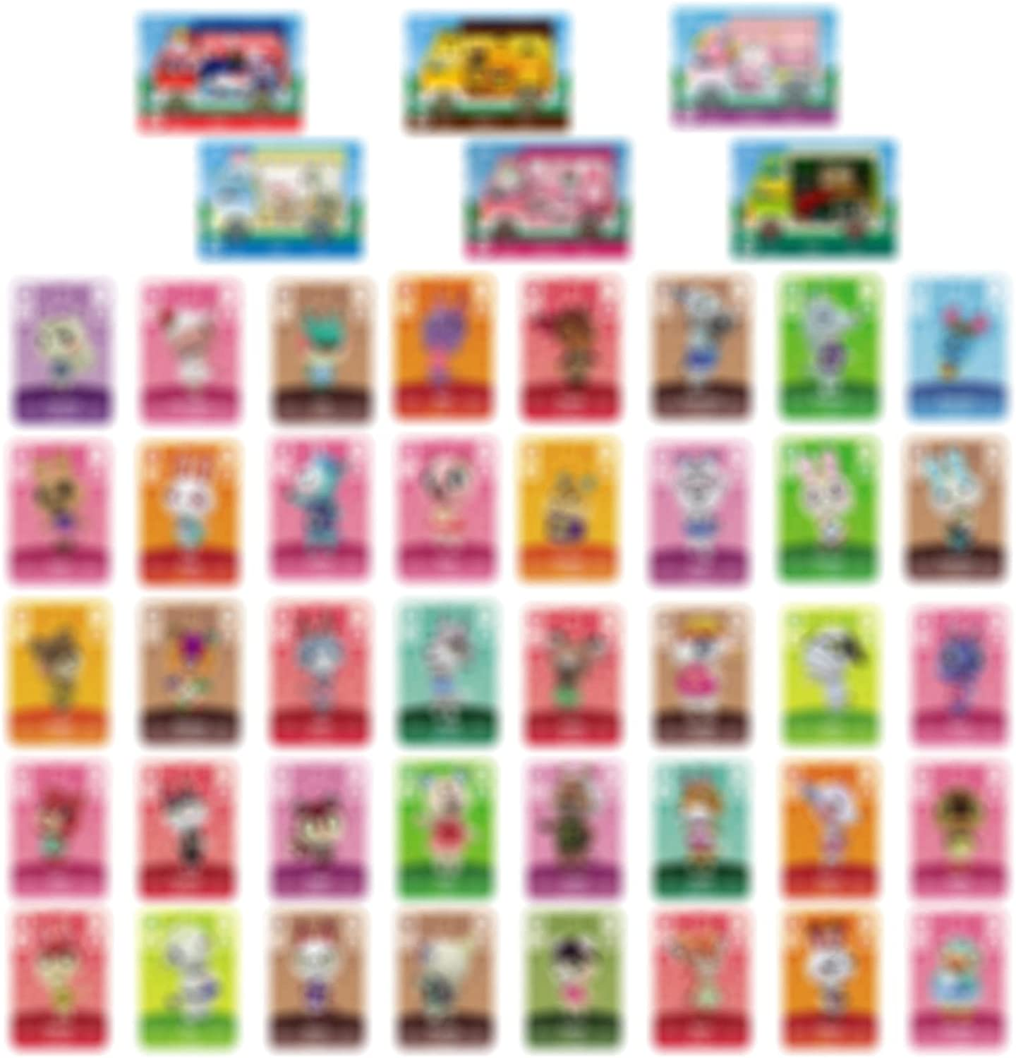 YTWQ 46Pcs NFC Mini Cards for ACNH Card Compatible with Switch/Lite/New 3DS