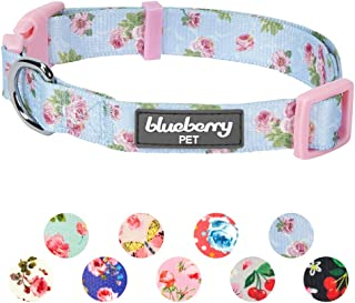 Blueberry Pet 20+ Patterns Spring Scent Floral Collection - Collars, Martingale Collars, Harnesses or Leashes for Dogs, Matching Lanyards for Pet Lovers, Personalized for Collars