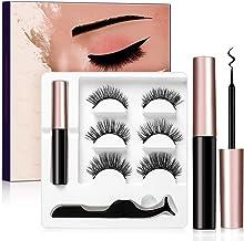 3 Pairs Magnetic Eyelashes and Eyeliner Kit, No Glue Reusable False Eyelashes, Easier To Use Than Traditional Magnetic Eye...