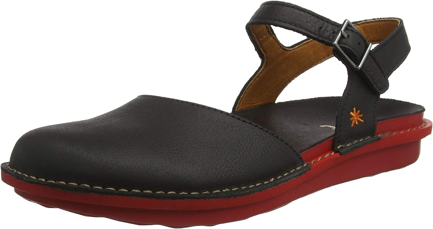 Art Men's 1301 Memphis Black-red I Explore Closed Toe Sandals
