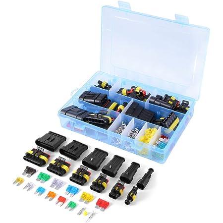 Wingoneer Auto Wasserdichte Elektrische Steckverbinder Klemme 1 2 3 4 5 6 Pin Way Sicherungen 240pcs Baumarkt