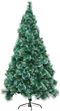 Realistic Christmas Tree with Snowflake, Artificial Pine Needle Tree with Stand Flame Retardant Holiday Decoration for Hom...