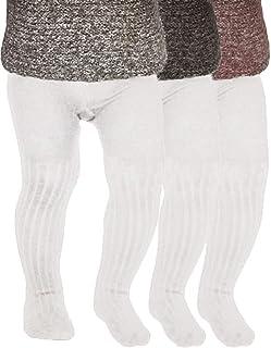 Tiny One Lot de 3 collants pour bébé fille et garçon - En coton biologique certifié GOTS - Blanc