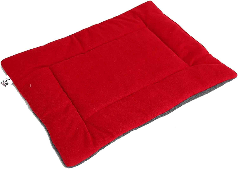 PETFDH Four Seasons Dog Bed Pet Cushion Warm Sleeping Mattress Bed Cat Cozy Nest Kennel Pet House Mat Bedding Red 105X68cm