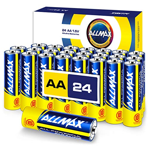 ALLMAX AllPowerful Alkaline Batteries  AA 24Pack  Premium Grade Ultra Long Lasting and LeakProof with EnergyCircle Technology 15 Volt
