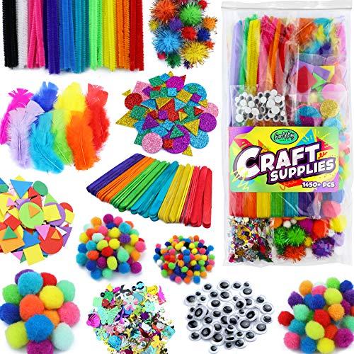 Carl & Kay Arts & Crafts Supplies for Kids Crafts - Kids Craft Supplies & Materials - Kids Art Supplies for Kids - Arts and Crafts Kit for Kids Craft Kits - Toddler Crafts for Kids Craft Set