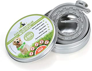 Goolsky Dogs Flea and Tick Collar Treatment Prevention Adjustable Waterproof 8 Months Protection