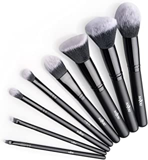 Anjou Brochas Maquillaje Profesional 8 Piezas Set Brochas de Maquillaje 100% Libre de Crueldad y Vegano con Cerdas Sintét...