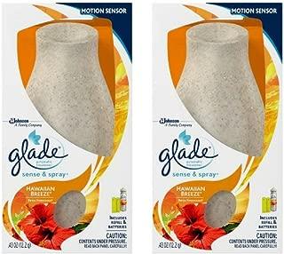 Glade Sense & Spray automatic air freshener starter kit, Hawaiian Breeze, Colors May Vary - 2 Packs