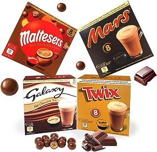 Nescafé Dolce Gusto Compatible Hot Chocolate Pods 32 Drinks Mars, Maltesers, Galaxy, Twix