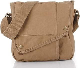 ZCLADLY Spot Men's Messenger Bag Men's Shoulder Bag Canvas Men's Bag (Color : Khaki)