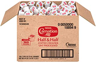 Nestle Carnation Coffee Creamer Half and Half, Made with Real Dairy, Box of 360