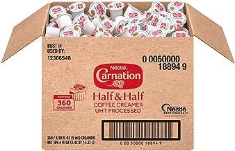 Nestle Coffee mate Carnation Half & Half Liquid Creamer Singles, 360Count (NES18894)