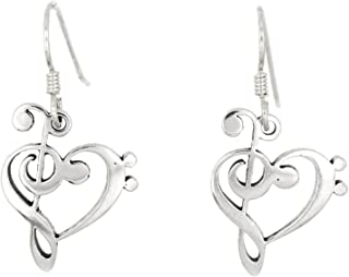 treble and bass clef earrings