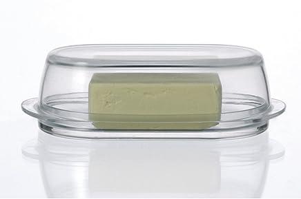 Preisvergleich für Leonardo 063690 Butterdose - CIAO - Glas - massiv - 20,5 x 10 x 6,2 cm