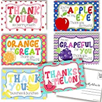 Fun Fruit Themed Thank You Blank Postcards for Kids
