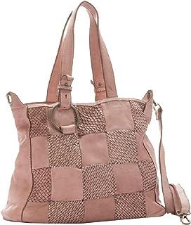 BZNA Bag Belva rosa Italy Designer Business Damen Handtasche Ledertasche Schultertasche Tasche Leder Shopper Neu