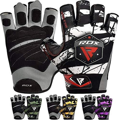 RDX Fitness Handschuhe Gewichtheben Sport Trainingshandschuhe Gym Bodybuilding Workout Gloves (MEHRWEG)